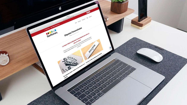 SanRoman Shop · Etiquetas, Bolsas, Papel y Cajas Personalizadas | Carlos Villarin · Freelance Wordpress